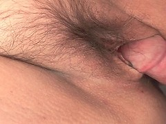Chubby granny getting fucked in her old hairy pussy