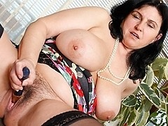 Big titted housewife squirting and masturbating