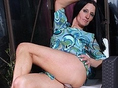 Sexy British housewife gets her pussy all wet