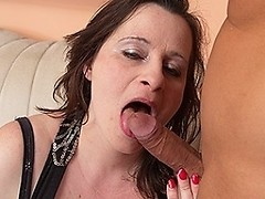 Big titted housewife enjoying a hard cock