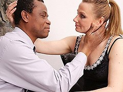 Pregnant housewife goes interracial