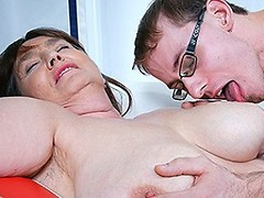 This big mama loves to fuck and suck her younger lover