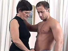 Hot granny riding cock with her fanny