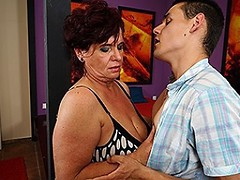 Horny housewife fucking and sucking her ass off