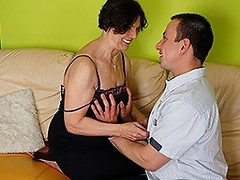 Horny housewife fucking her toy boy